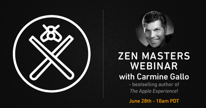 Zen Master Webinar Series: Q&A with Author Carmine Gallo