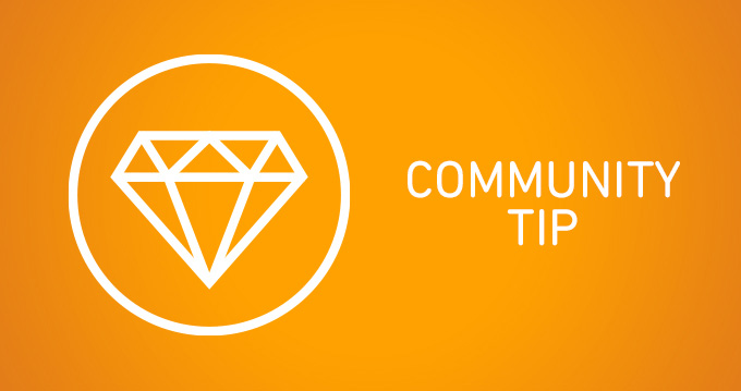 Community tip: keeping an eye on your data