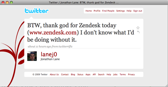 Thank God for Zendesk