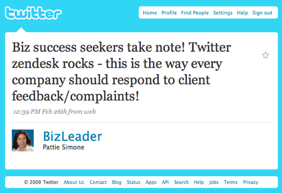 Zendesk Twitter Rocks