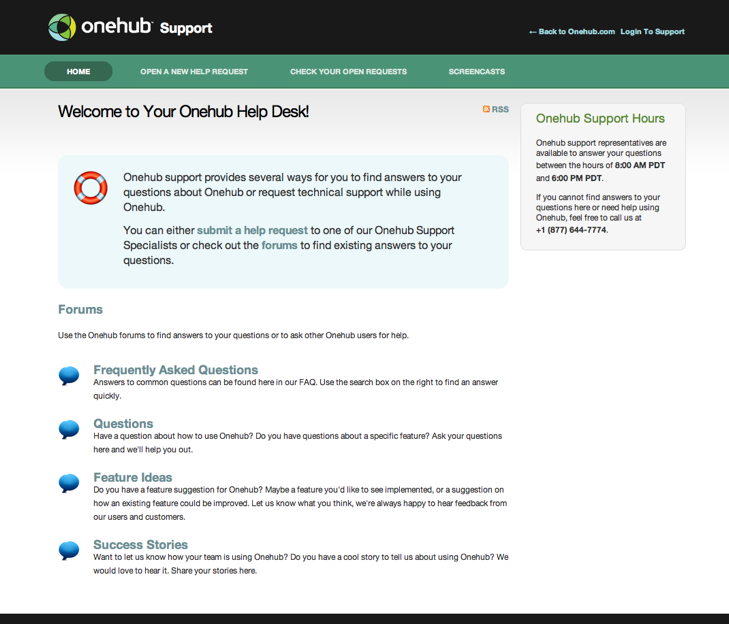 onehub and zendesk css coolness