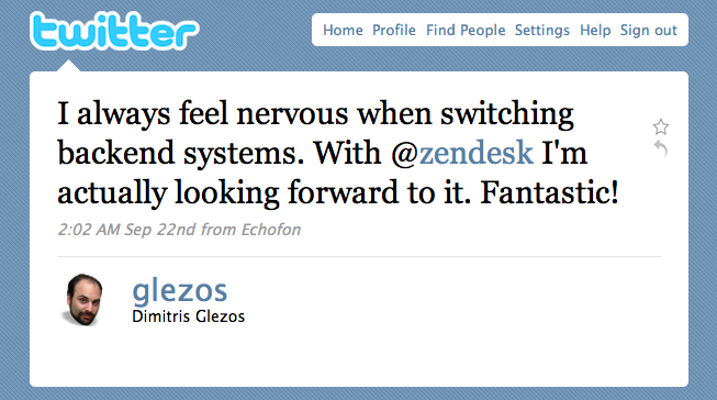 With Zendesk I'm looking forward to switching backend