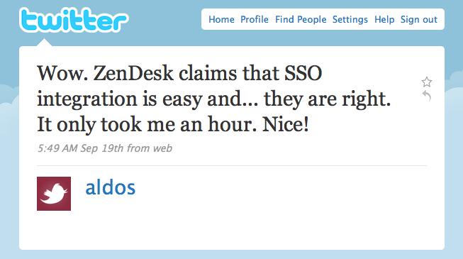 Zendesk SSO integration is easy