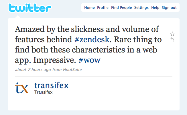 Amazed by the slickness and volume of features behind Zendesk