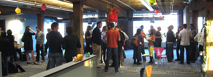 Office warming at Zendesk