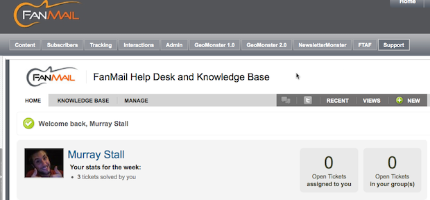 Zendesk Help Desk Interface