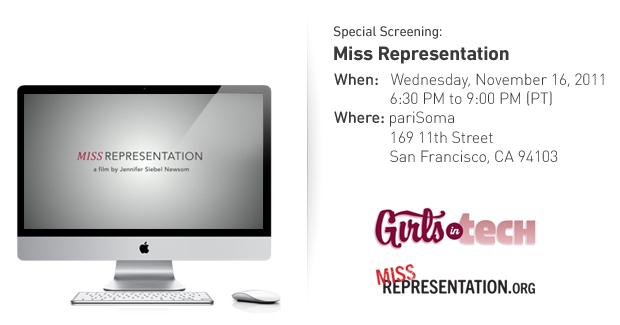 Miss Representation Screening in San Francisco, November 16th