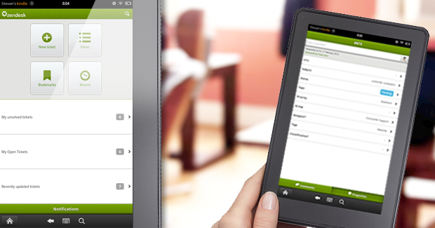 Drop those Twilight books and pick up Zendesk for Kindle Fire